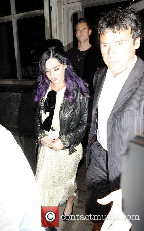 Katy Perry and Robert Ackroyd leave Wilton's Music...