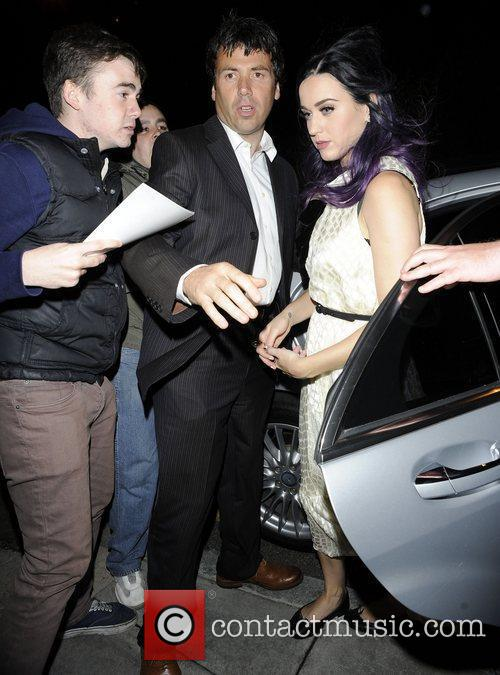 Katy Perry arrives at Wilton's Music Hall to...