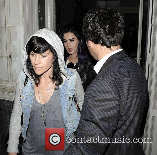 Katy Perry leaves Wilton's Music Hall after watching...