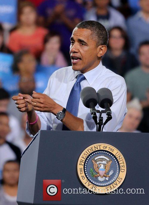 US President Barack Obama  delivers a speech...
