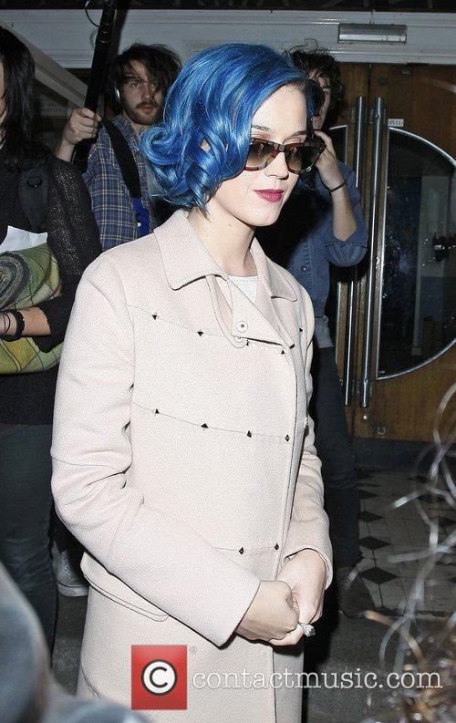 Katy Perry leaving the BBC Maida Vale Studios...