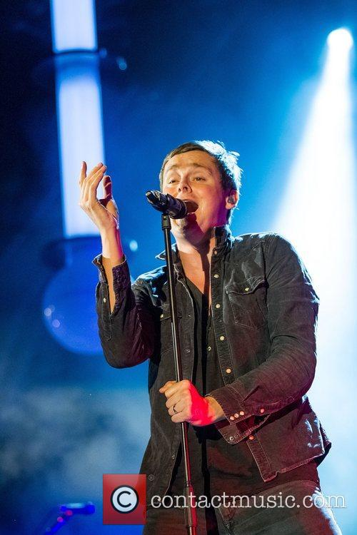 Tom Chaplin of Keane performing live at the...