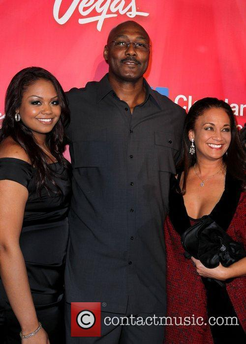 Carl Malone with wife, Kay Malone and their...