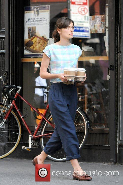 Keira Knightley on the set of Can a...