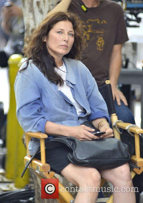 Catherine Keener on the movie set of 'Can...