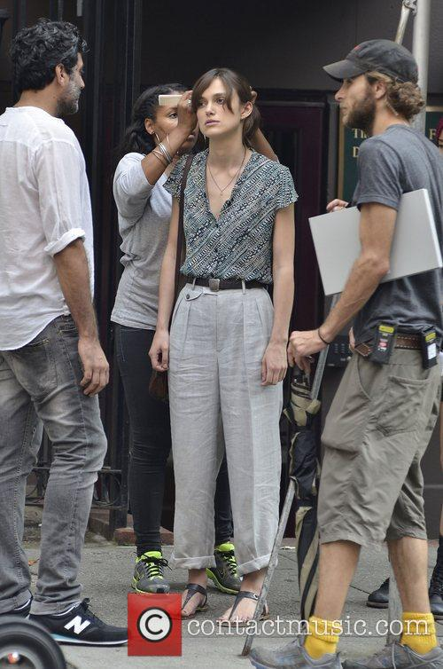 Keira Knightley on the movie set of 'Can...