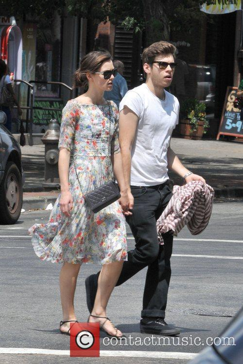 Keira Knightley and fiance James Righton taking a...