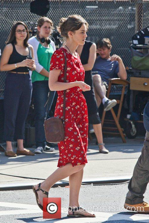 Keira Knightley  filming on the set of...