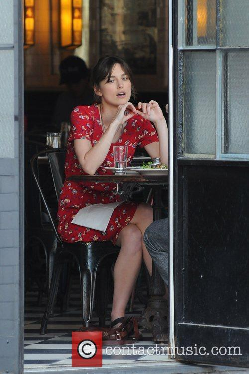 Keira Knightley on the set of 'Can a...