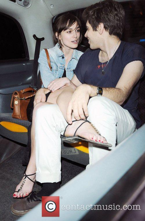 Keira Knightley and boyfriend James Righton leaving The...