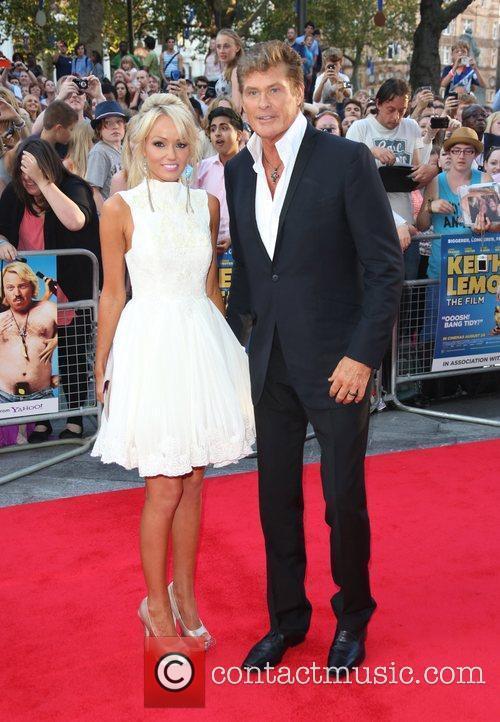 David Hasselhoff and girlfriend Hayley Roberts The World...
