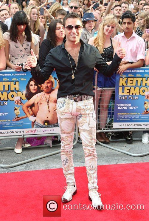 Gino D'Acampo The World premiere of Keith Lemon...