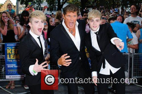 Jedward, David Hasselhoff and Odeon West End 2