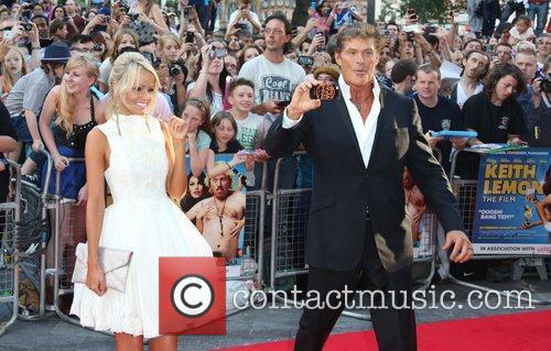 David Hasselhoff and Hayley Roberts The World premiere...