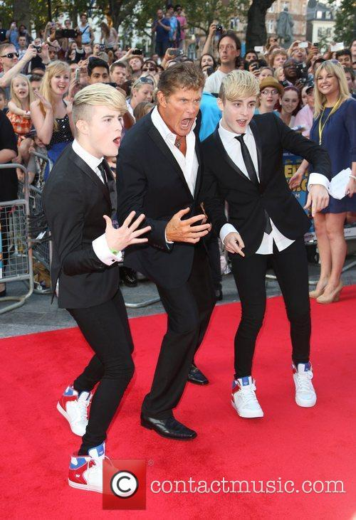 David Hasselhoff and Jedward 2