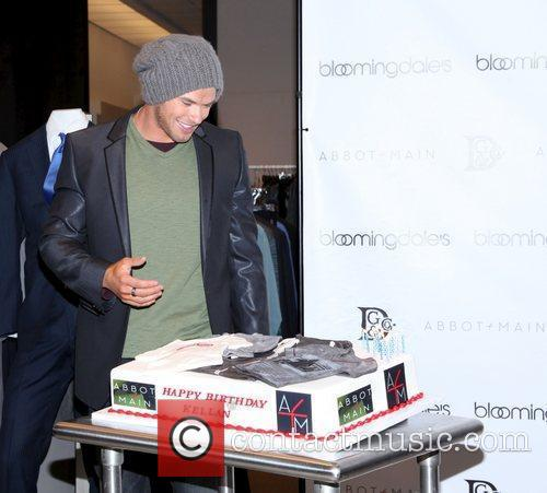 Kellan Lutz attending the launch of the spring...