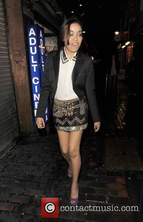 Dionne Bromfield out and about in Soho.