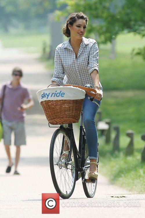 Rides her bicycle in Regents Park