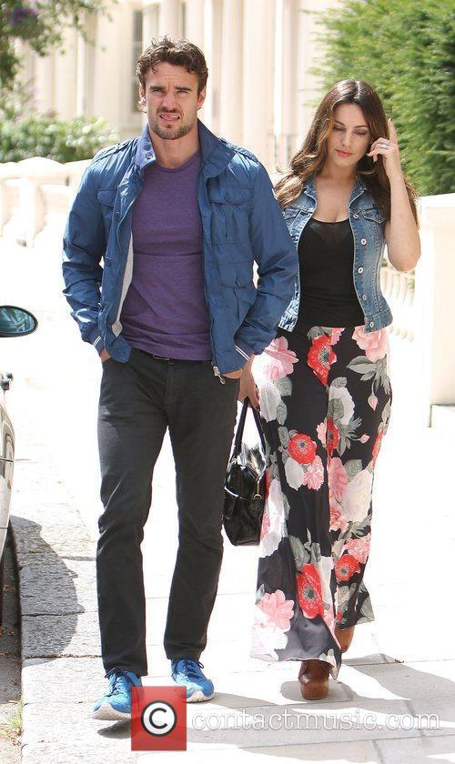 Kelly Brook and Thom Evans out and about...