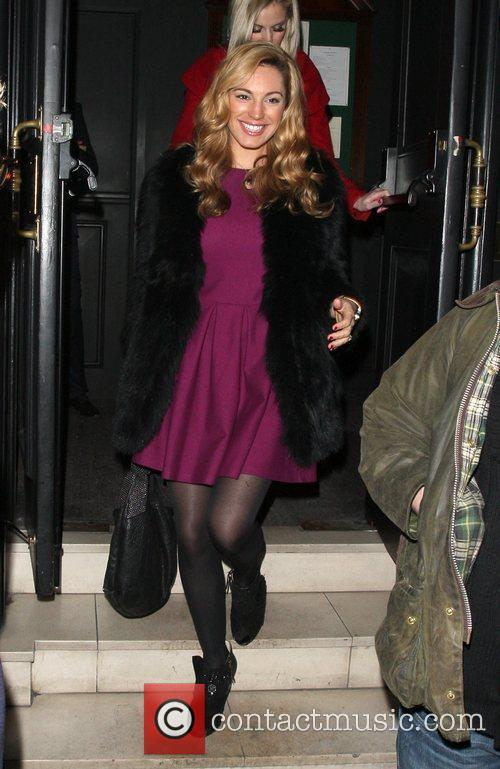 Kelly Brook enjoying a night out at the...
