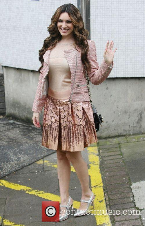 Kelly Brook leaves the ITV studios following a...