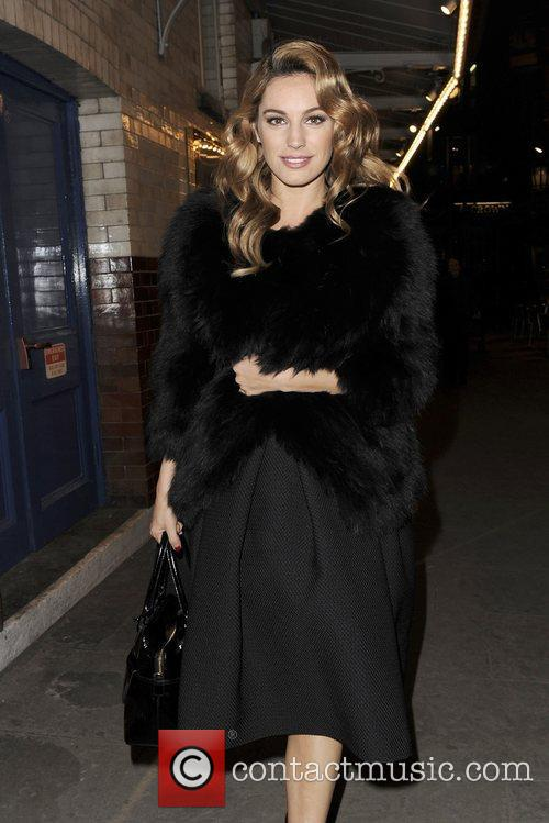 Kelly Brook arriving at J. Sheekey restaurant with...