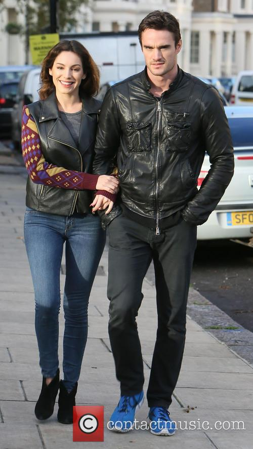 Kelly Brook, Thom Evans, London and England 6