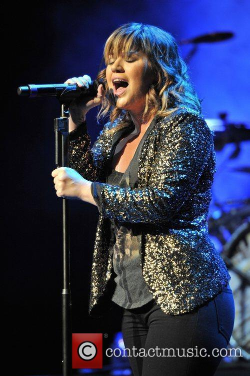 Kelly Clarkson performs live in concert at the...
