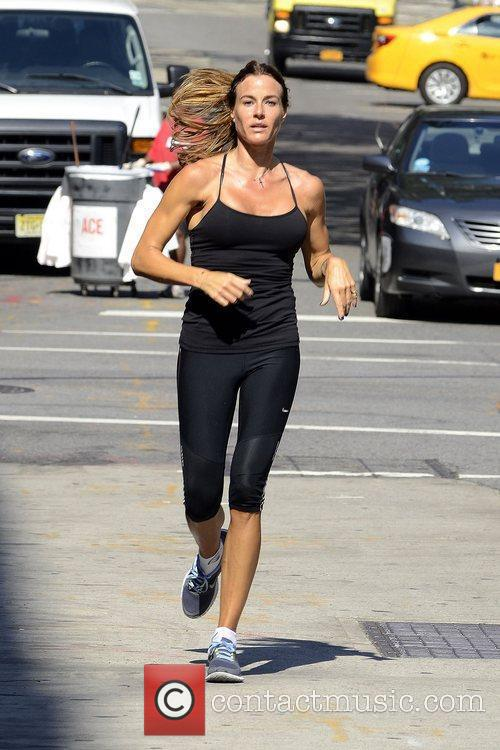 Kelly Killoren Bensimon jogging in Manhattan on a...