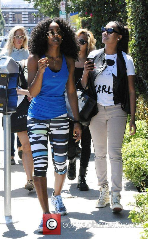 Kelly Rowland and Lala Vasquez out and about...