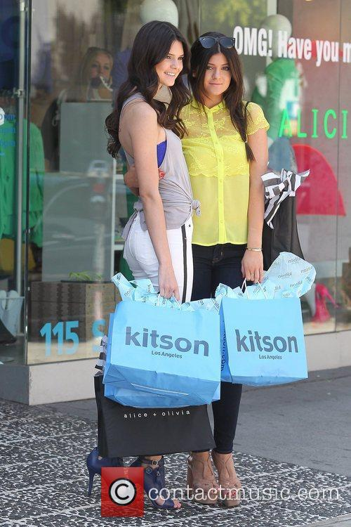 Kendall and Kylie Jenner  seen out shopping...