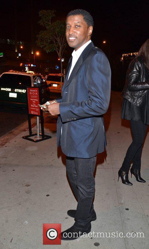 Kenneth Edmonds aka Babyface leaving BOA steakhouse in...