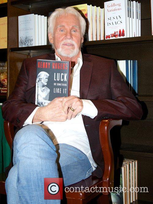 Kenny Rogers promotes his new book 'Luck or...