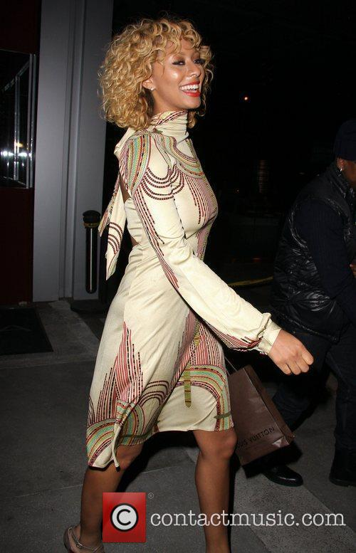 Keri Hilson leaves BOA Steakhouse in West Hollywood...