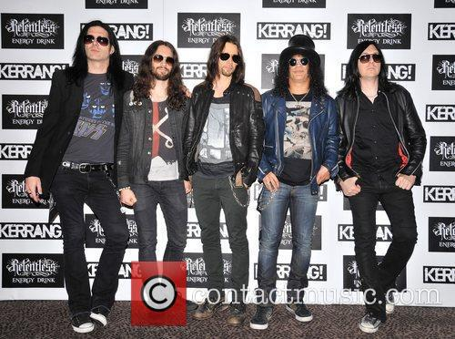 Slash with his band members Kerrang! Awards held...