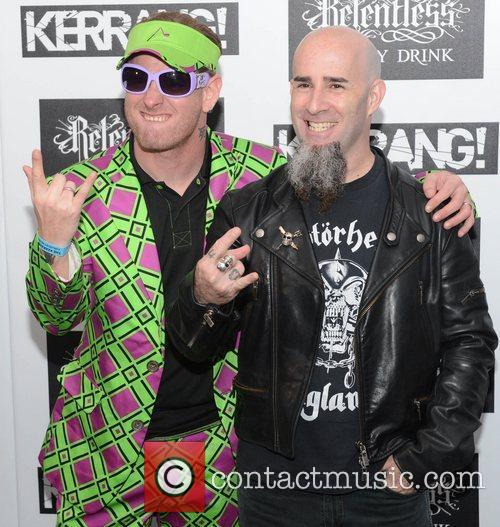 Corey Taylor from Slipknot and Scott Ian from...