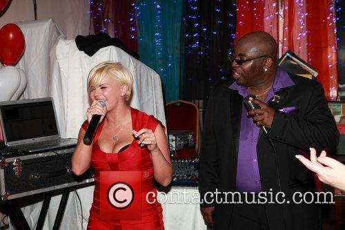 Kerry Katona singing with T-Kay  Valentines Dinner...