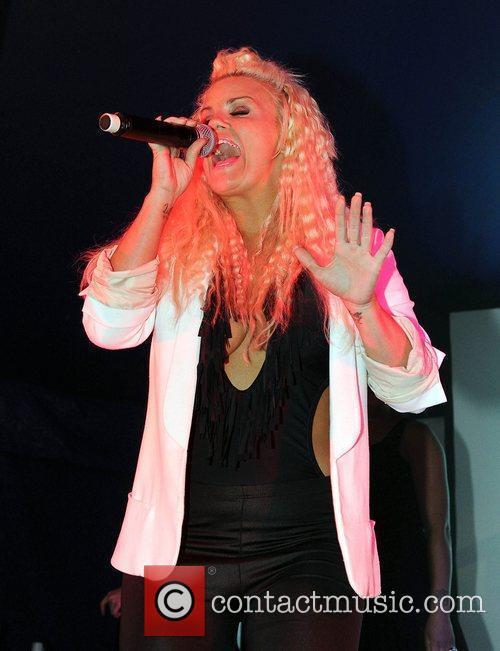 Kerry Katona performing live on stage at Birmingham...