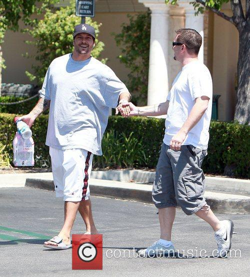 Kevin Federline goes shopping for Evian bottled water...