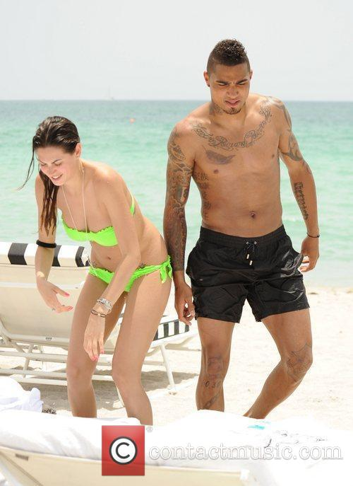 Kevin-Prince Boateng and girlfriend Melissa Satta on holiday...