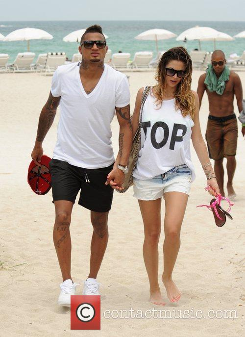Kevin-Prince Boateng and girlfriend Melissa Satta on holiday