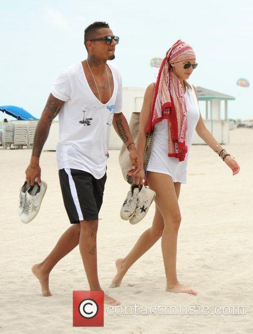 Kevin-Prince Boateng and Melissa Satta spend the day...