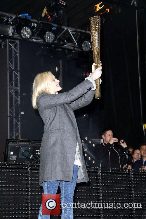 Fearne Cotton with Olympic torch,  at the...