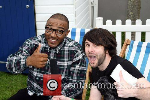 Mistajam (left),  at the Radio 1 'Kick...