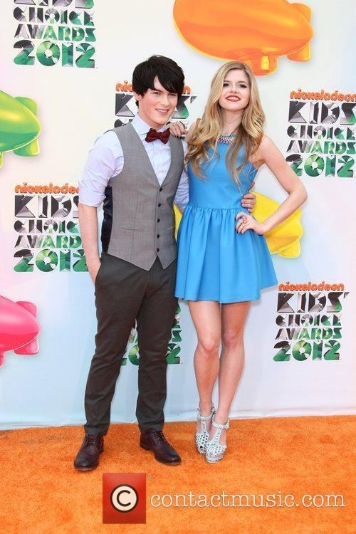 Brad Kavanagh and Ana Mulvoy-Ten 2012 Kids Choice...