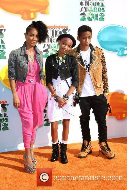 Jada Pinkett Smith, Willow Smith, Jaden Smith 2012...