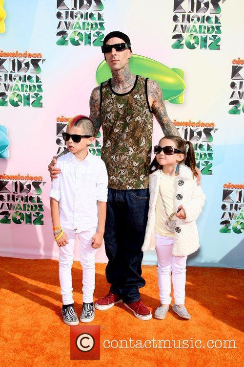 Travis Barker and children 2012 Kids Choice Awards...