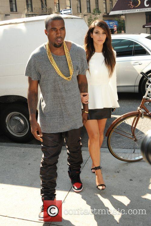 kim kardashian and kanye west are seen 5902590