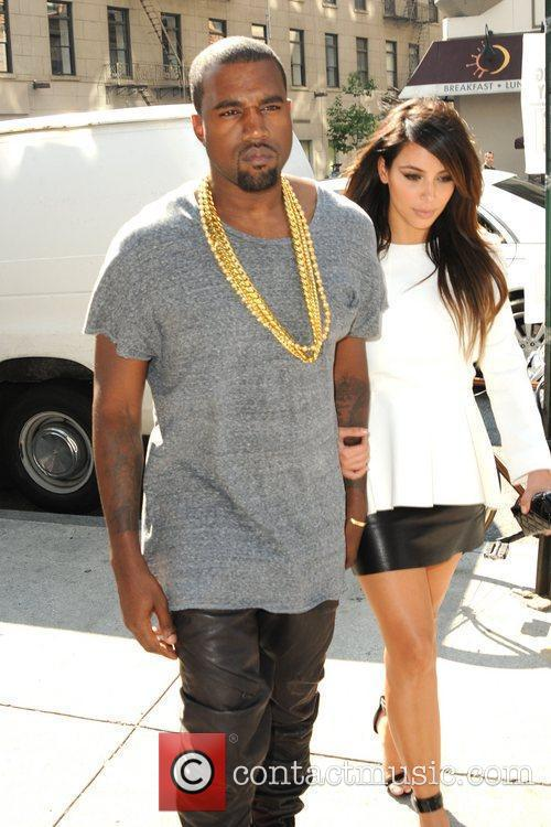 kim kardashian and kanye west are seen 5902593