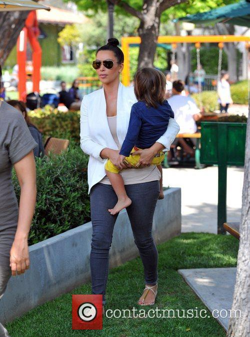 Kim Kardashian and Mason 2